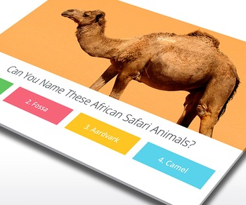 SCIENCE: African Safari Trivia - Interactive PowerPoint Game