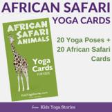 African Safari Yoga Cards for Kids