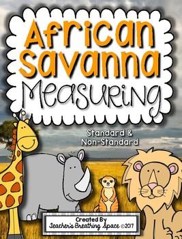 African Savanna Animal Measuring Book and Measurement Math Center