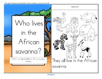 African Animals Informative Reader plus Puppets, Vocabulary