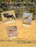 African Savannah Word Wall Words