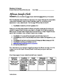African Senufo Cloth