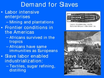 African Slave Trade Lecture Powerpoint Presentation