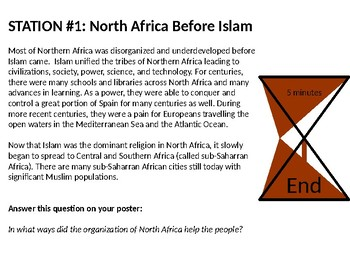 African Society Reading Station Lesson: Islam, Christianity, and Trade Routes