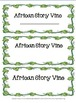 Black History Month-  African Story Vine
