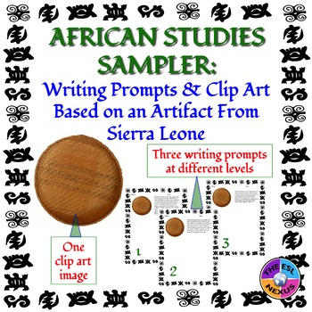 African Studies Writing Prompts and Clip Art Based on a Sierra Leone Artifact