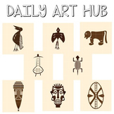 African Symbols Clip Art - Great for Art Class Projects!