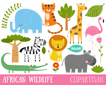 photograph regarding Printable Safari Animals named African Wildlife Clip Artwork Safari Pets Printable Jungle