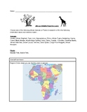 African Wildlife/Plant Research Activity