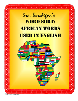 African Words Used in English: Word Sort (Black History Month or Sub Plans)