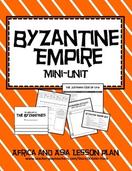 African and Asian Empires - Byzantine Empire Flipbook and Lessons