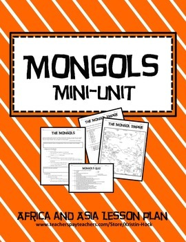 African and Asian Empires - Mongols lesson plan