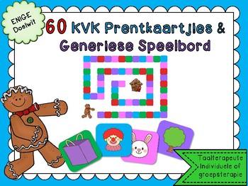 Afrikaans 60 KVK prentkaartjies & Generiese Speletjie