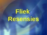 Afrikaans FAL - Fliek resensie reëls