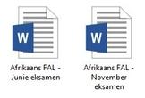 Afrikaans FAL - Grade 7 Exam & Memo Bundle