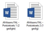 Afrikaans FAL - Grade 7 Poetry Test bundle