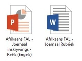 Afrikaans FAL - Journal bundle