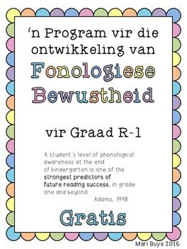 Afrikaans GRATIS Program vir die Ontwikkeling van Fonologiese Bewustheid GrR-3