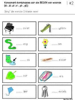 Afrikaans Remediërende Oefeninge Konsonant-kombinasies met /l/