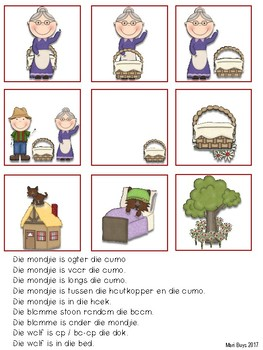 Afrikaans Rooikappie Taalterapie Aktiwiteite & Tuisprogramme vir JONGER kinders