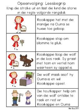 Afrikaans Rooikappie Taalterapie Aktiwiteite & Tuisprogramme vir OUER kinders