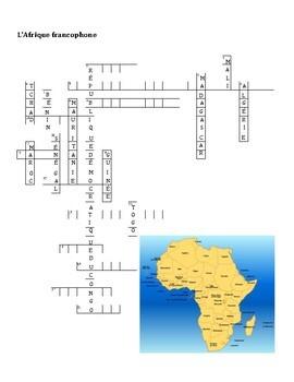 Afrique francophone Partner puzzle Speaking activity
