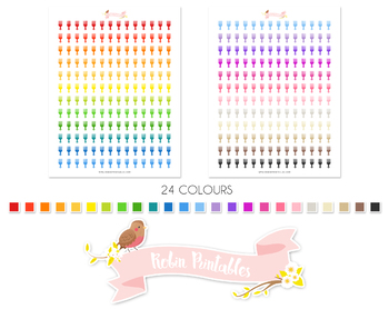 Afro Comb Printable Planner Stickers