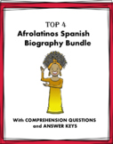 Afro-Latinos Biografías: 4 Spanish Bios Bundle @30% off! Black History Month