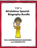 Afrolatinos Biografías: TOP 4 Bios Bundle @30% off! (Black History Month)