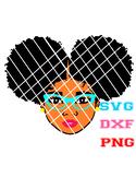 Afro woman,Black Girl SVG,Natural hair svg