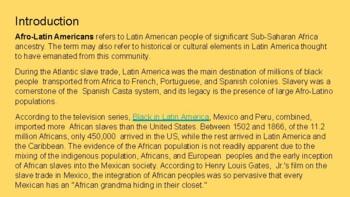 Afrolatinos Famosos Famous Afrolatinos