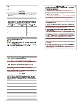 Lesson: After Apple-Picking by Robert Frost Lesson Plan, Worksheets, Key
