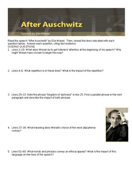 After Auschwitz Comprehensive Study Guide