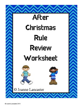 After Christmas Rule Review