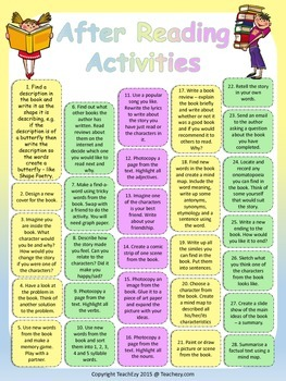 After Reading Activities Poster