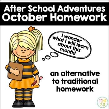 October Homework After School Adventures