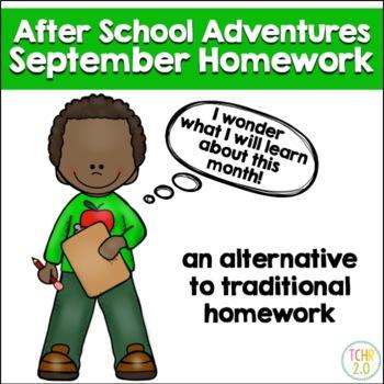 Homework September After School Adventures Back to School