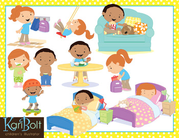 After School (Afternoon Routine) Clip Art