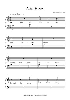 After School - An Easy Level 1 Piano Solo With Lyrics