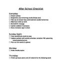 After School Checklist