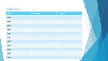 After-School Class Schedule Template