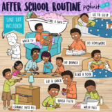After School Evening Routine Clipart