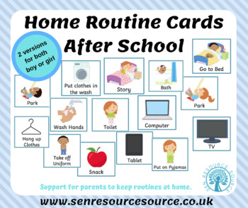 After School Home Routine Cards