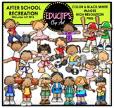 After School Recreation Clip Art Bundle {Educlips Clipart}