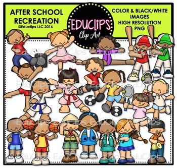 After School Recreation Clip Art Bundle {Educlips Clipart}