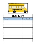 After School Schedule and Bus List