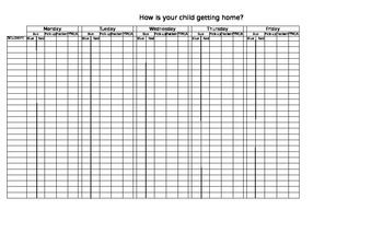 After School Student Schedule Organizer