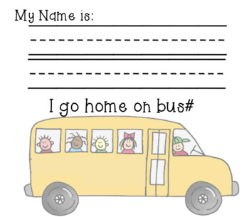 After School Transportation Tags