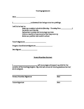 After School Tutoring Proposal and Implementation Forms