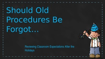 After The Holiday Behavior Expectations Review FREEBIE